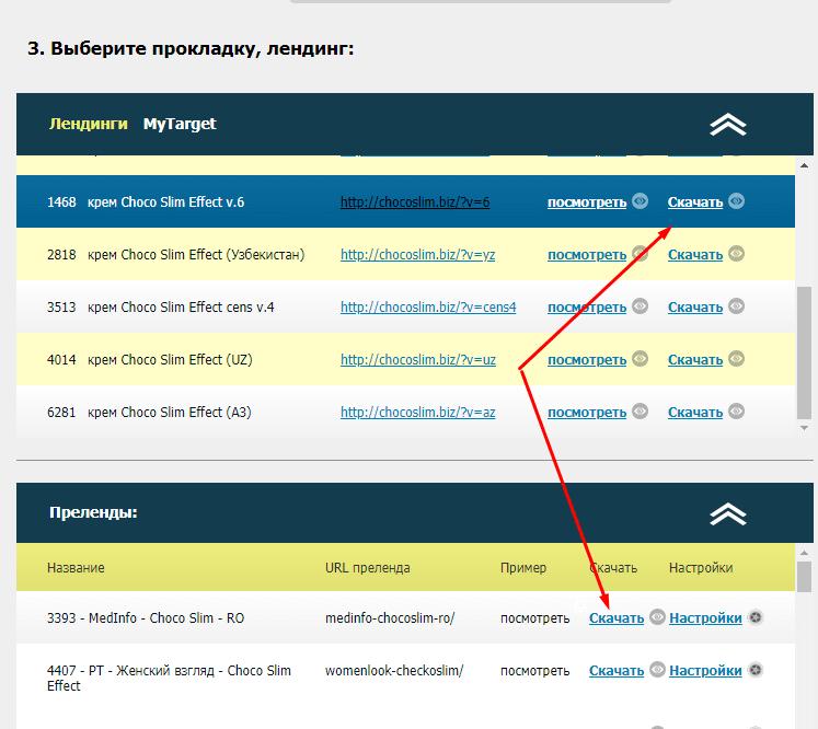 Скачать лендинг в ctr.ru